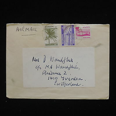 ZG-C147 BANGLADESH - Fish, Air Mail To Switzerland Cover
