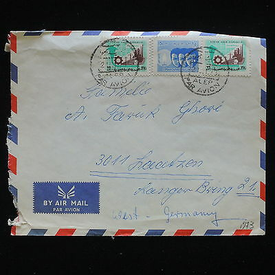 ZG-C161 SYRIA IND - Cover, 1973 Air Mail To Germany