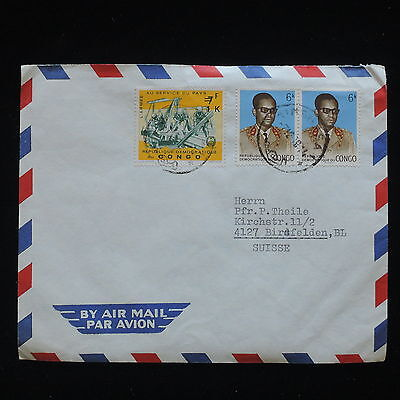 ZG-C166 CONGO BRAZZAVILLE - Cover, Air Mail To Switzerland
