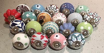 20 X Mixed Ceramic Knobs Handles Pulls Furniture Drawers Doors 006