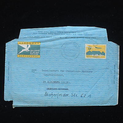 ZG-C175 SOUTH AFRICA IND - Aerogramme, Air Mail To Germany Cover
