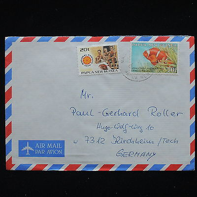 ZG-C183 FISH - Papua New Guinea Ind, Air Mail To Germany Cover
