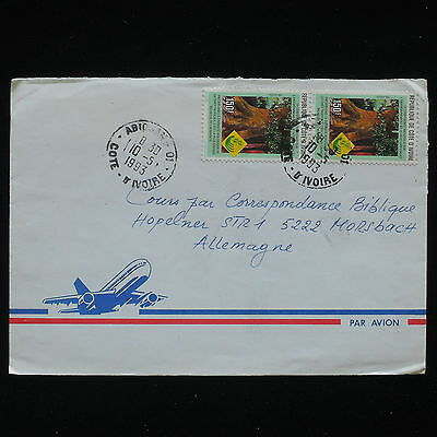 ZG-C185 IVORY COAST IND - Cover, Air Mail To Germany