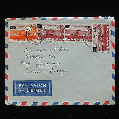ZG-C193 CONGO BRAZZAVILLE - Cover, 1988 Air Mail To Switzerland