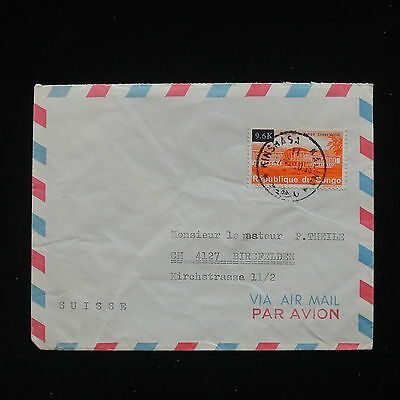 ZG-C196 CONGO BRAZZAVILLE - Cover, Air Mail To Switzerland