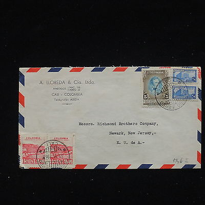 ZG-C199 COLOMBIA - Cover, 1946, Air Mail To Usa