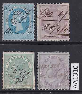 Selection of British Revenue Fiscal Stamps - AA1310