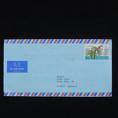 ZG-C200 UGANDA IND - Flowers, Air Mail To Switzerland Cover