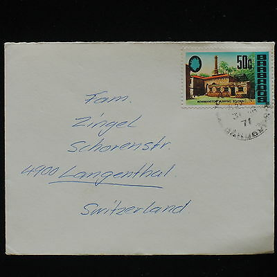 ZG-C204 BARBADOS IND - Cover, 1971, To Switzerland