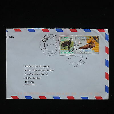 ZG-C230 WILD ANIMALS - Ethiopia, Air Mail To Germany Cover