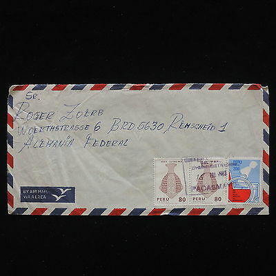 ZG-C249 PERU - Handcrafts, 1983 Air Mail To Germany Cover