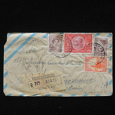 ZG-C262 ARGENTINA - Cover, 1951 Registered Air Mail To Italy