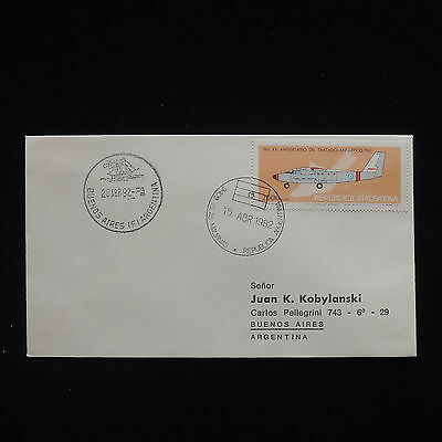 ZG-C290 AVIATION - Argentina, 1982, To Buenos Aires Cover