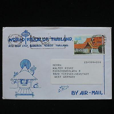 ZG-C294 THAILAND - Buildings, 1987, Air Mail To West Germany Cover