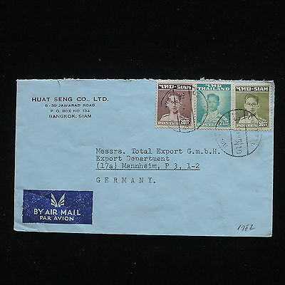 ZG-C298 THAILAND - Cover, 1952, To Germany