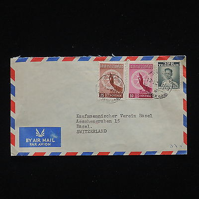 ZG-C312 THAILAND - Cover, 1957, Air Mail To Switzerland