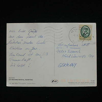 ZG-C313 THAILAND - Postcard, To Germany