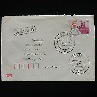 ZG-C337 BRAZIL - Popes, 1980, Air Mail To Germany Cover