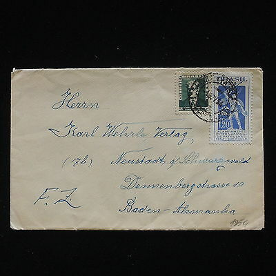ZG-C338 BRAZIL - Cover, 1954 To Germany