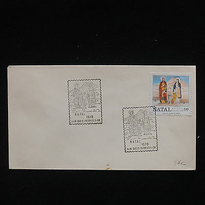 ZG-C344 BRAZIL - Fdc, 1970, Christmas Cover