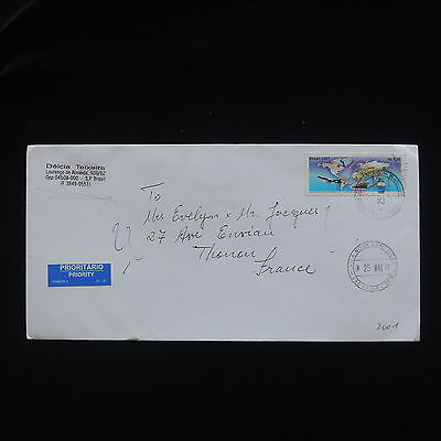 ZG-C347 BRAZIL - Transportation, 2001 Priority Mail To France Cover