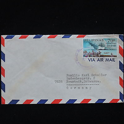 ZG-C363 PHILIPPINES IND - Volcanoes, Taal Volcano Eruption, To Germany, Airmail