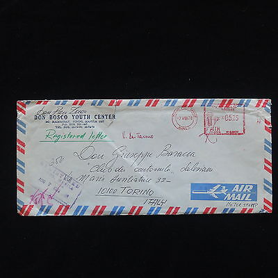 ZG-C367 PHILIPPINES IND - Cover, 1978 Meter Stamps, Don Bosco Youth Center