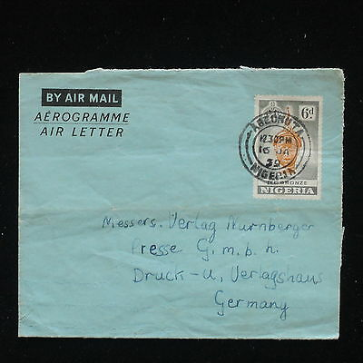 ZG-C404 NIGERIA IND - Cover, 1959, Aerogramme To Germany