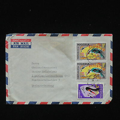 ZG-C405 NIGERIA IND - Birds, Air Mail To Germany Cover