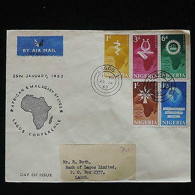 ZG-C407 NIGERIA IND - Fdc, 1962, Lagos Conference Of African States Cover