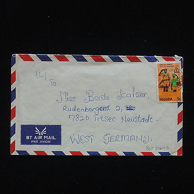 ZG-C409 NIGERIA IND - Boy Scouts, Air Mail To Germany Cover