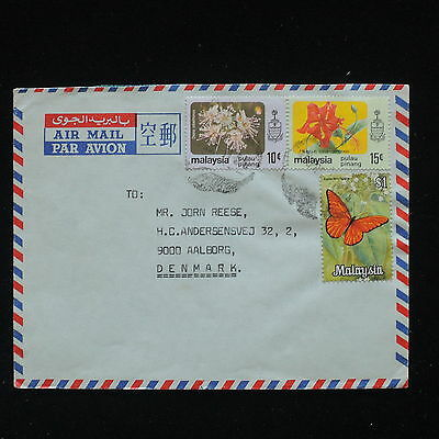 ZG-C423 MALAYSIA - Flowers, Air Mail To Denmark Cover