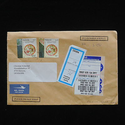 ZG-C425 MALAYSIA - China, 2006, Air Mail Registered To Denmark Cover