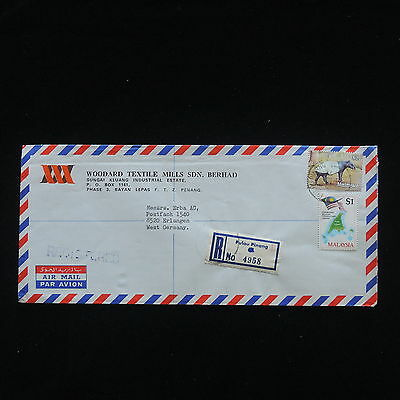 ZG-C428 MALAYSIA - Wild Animals, 1964 Air Mail Registered To Germany Cover