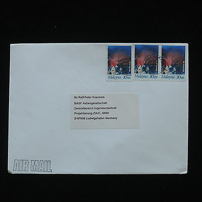 ZG-C429 MALAYSIA - Marine Life, 1999,Air Mail From Kuala Lampur To Germany Cover