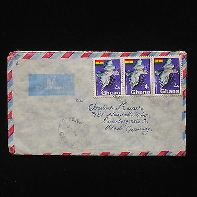 ZG-C457 GHANA - Birds, 1970, Air Mail To Germany Cover