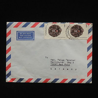 ZG-C467 DOGS - Tanzania, Air Mail To Germany Cover