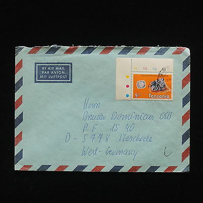ZG-C468 MINERALS - Tanzania, Air Mail To Germany Cover