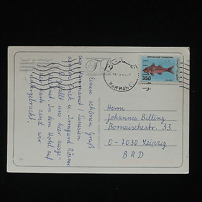 ZG-C488 TUNISIA FRC - Fish, Postcard To Germany Cover
