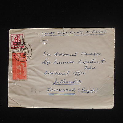ZG-C534 INDIA IND - Cover, 1972, Under Certificate Of Posting