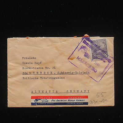 ZG-C567 VENEZUELA - Pan Am, 1949, Air Mail To Germany Cover