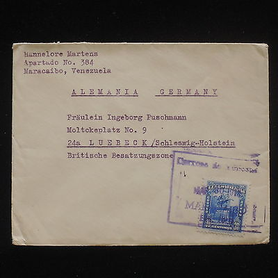 ZG-C568 VENEZUELA - Cover, To Germany, British Zone