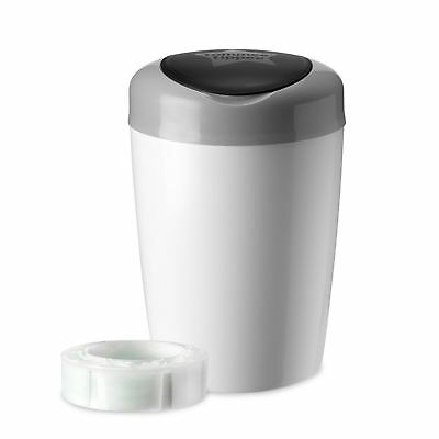 Tommee Tippee Simplee Diaper Pail with 1 Refill, Grey...NEW