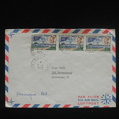 ZG-C625 IVORY COAST IND - Cover, 1973, Air Mail To Germany