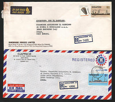 ZG-C708 SINGAPORE IND - Ships, 1982, Air Mail To Italy Cover