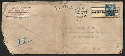 ZG-C712 US NAVAL - S/S Rex, 1934, To Pericle Chieri In Italy Cover