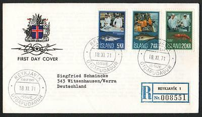 ZG-C726 ICELAND - Fish, 1971, Fdc, Fishing Cover