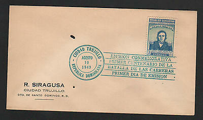 ZG-C734 DOMINICAN REP. - Fdc, 1949, 100Th Anniversary Indipendence War Cover