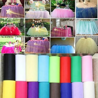 Wrap Fabric Tutu Party Decoration Craft Gift Wedding Tulle Roll Spool