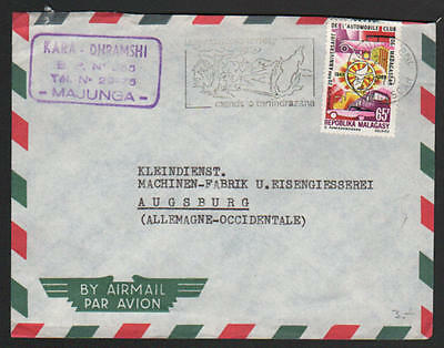 ZG-C740 MADAGASCAR - Cars, Air Mail From Majunga To Germany Cover